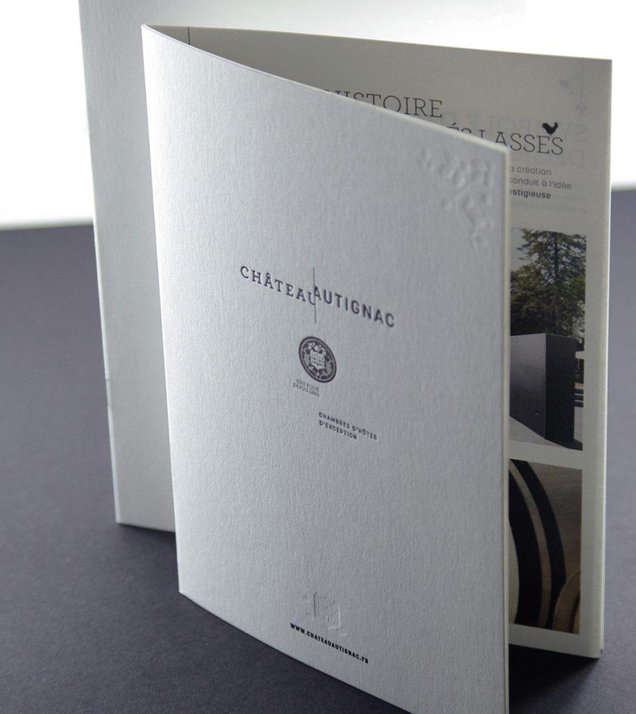 Couverture brochure Chateau Autignac