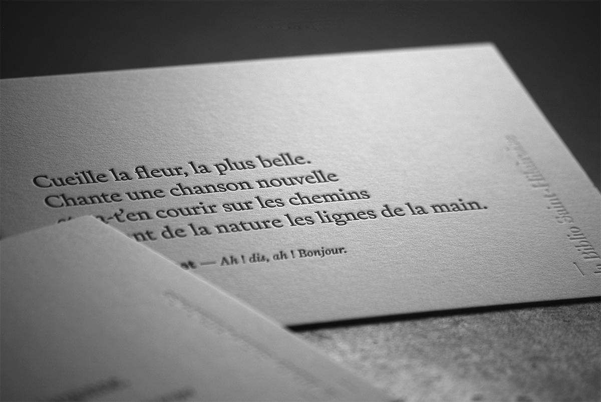 Carte citation - Bibliothèque Saint-Hilaire