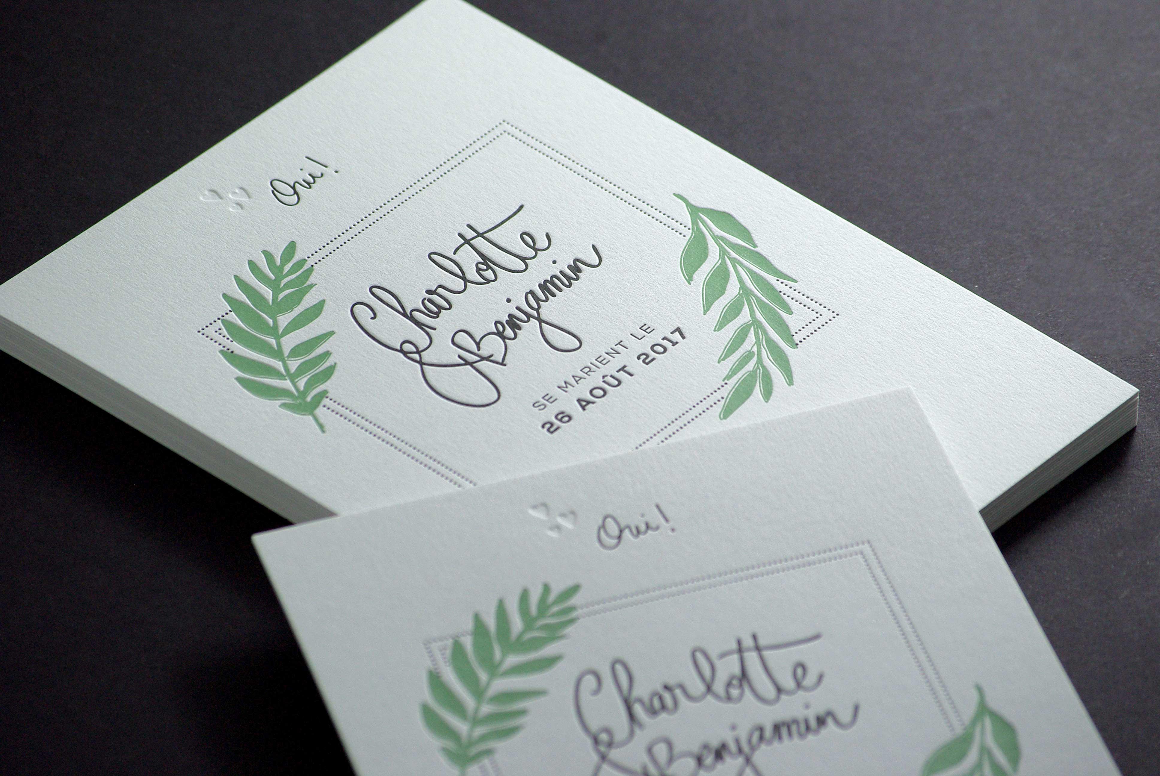 Faire-part de mariage - Charlotte & Benjamin