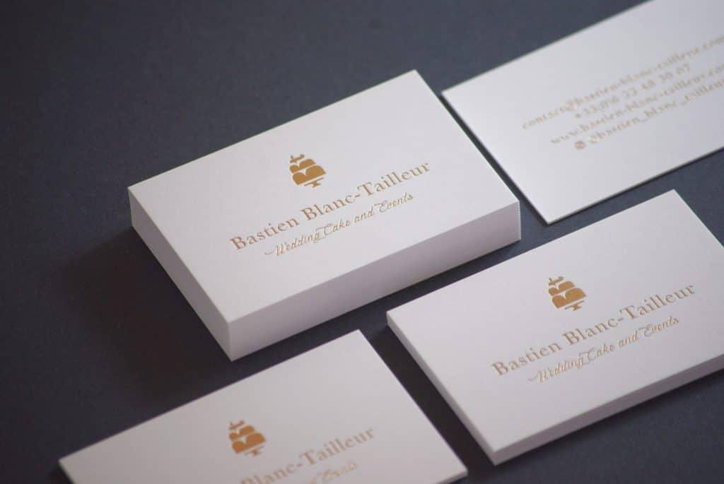 Carte de visite - Bastien Blanc Tailleur