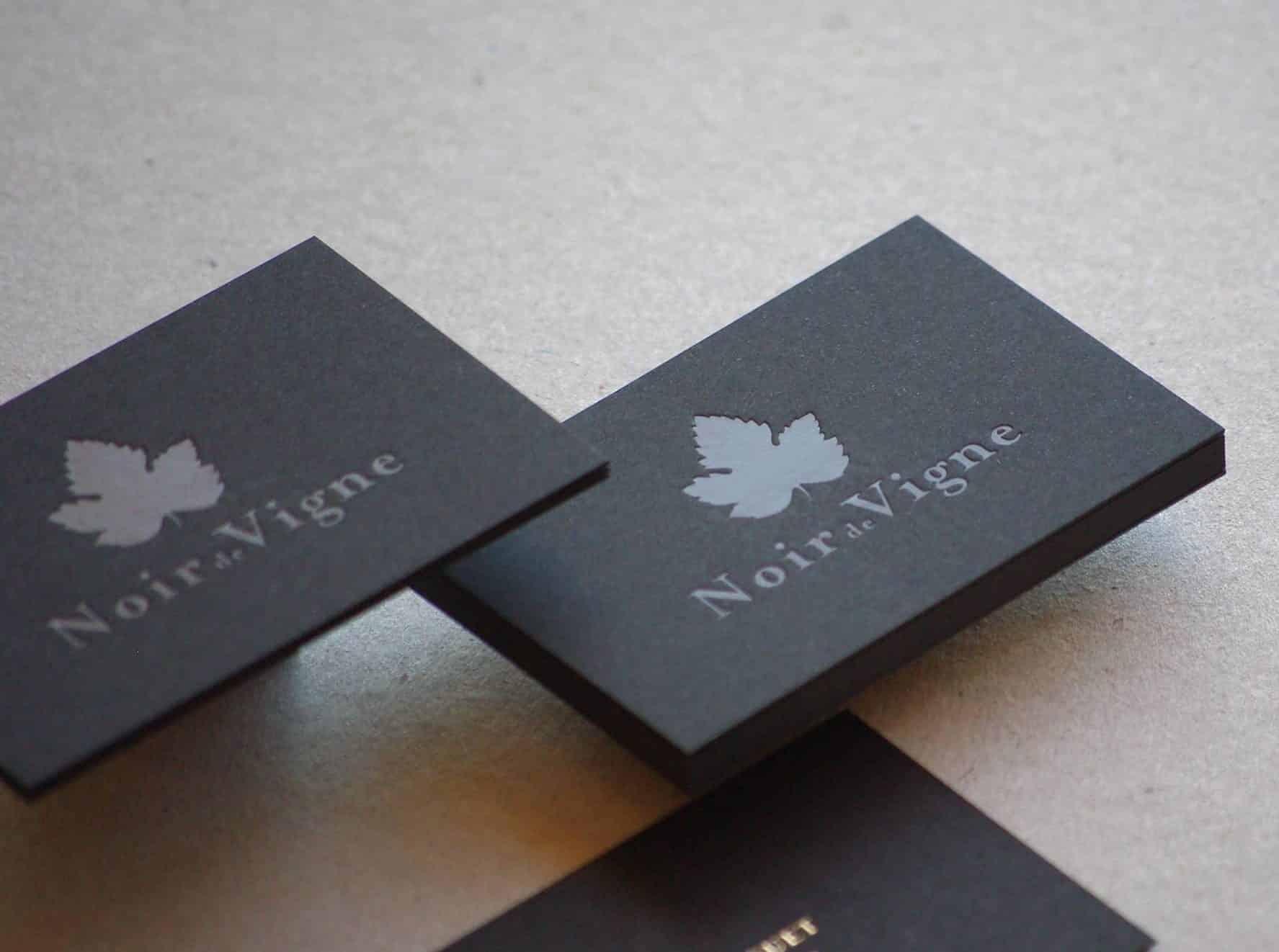 Carte de visite - Noir de Vigne